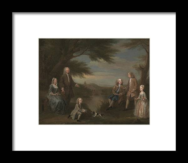 William Hogarth Framed Print featuring the painting John And Elizabeth Jeffreys And Their Children by William Hogarth