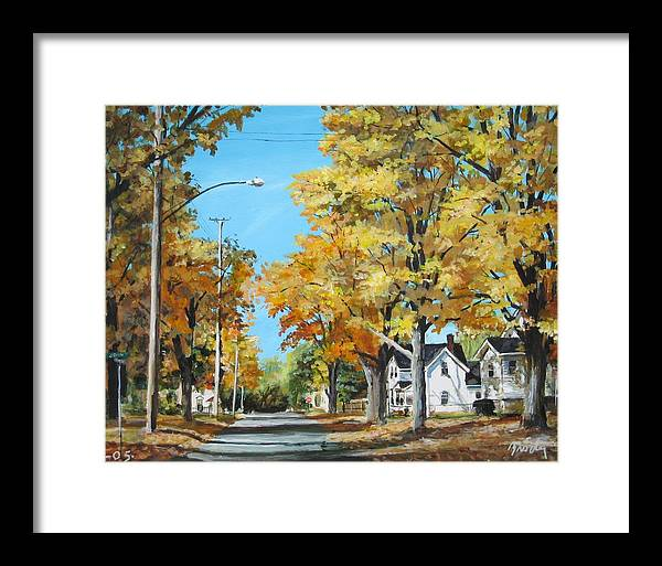 Landscape Framed Print featuring the painting John And Hadley by William Brody