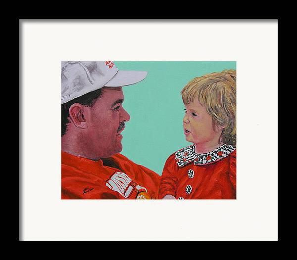 Portrait Framed Print featuring the painting John And Megan by Stan Hamilton
