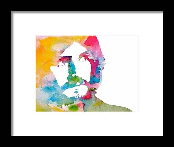 John Bonham Watercolor Framed Print featuring the digital art John Bonham Watercolor by Dan Sproul