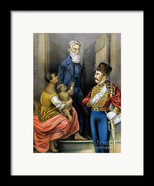 19th Century Framed Print featuring the photograph John Brown (1800-1859) by Granger