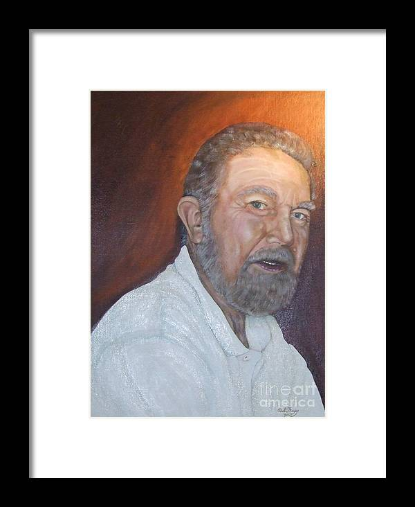 Portrait Framed Print featuring the painting John Carlton by Neil Trapp