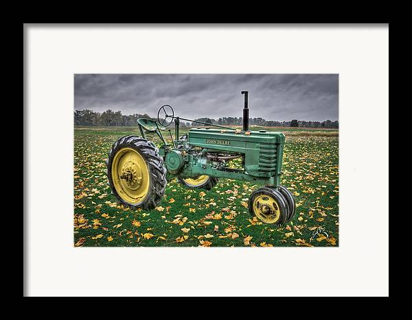 John Deere Tractors Framed Print featuring the photograph John Deere 2 by Williams-Cairns Photography LLC