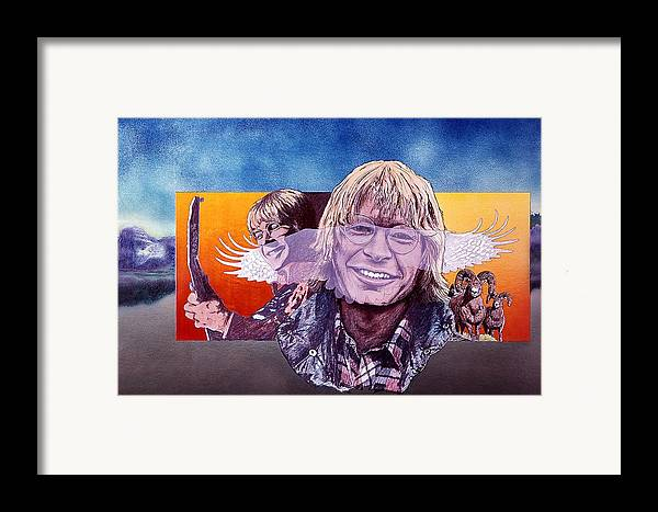 John Denver Framed Print featuring the mixed media John Denver by John D Benson