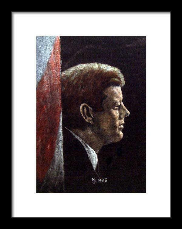 Jfk Framed Print featuring the painting John F. Kennedy by Norman F Jackson