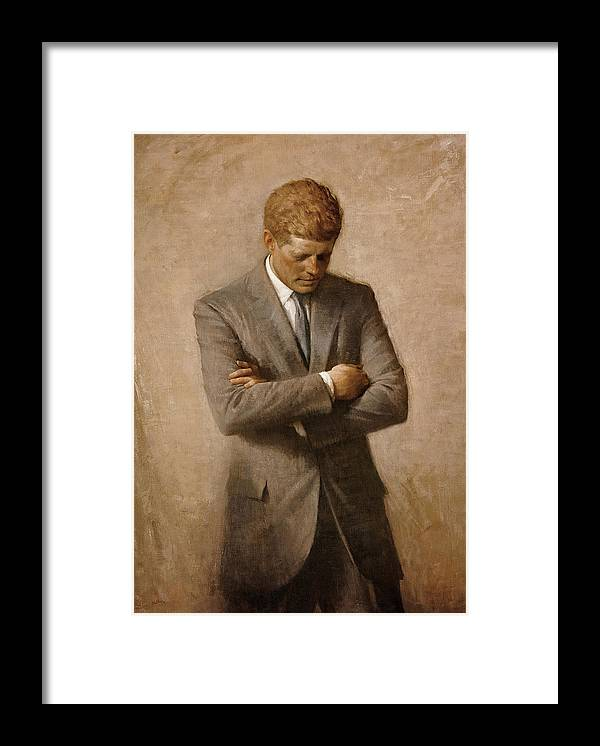 Jfk Framed Print featuring the painting John F Kennedy by War Is Hell Store