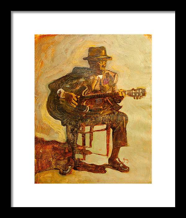 John Lee Hooker Framed Print featuring the painting John Lee Hooker by Michael Facey