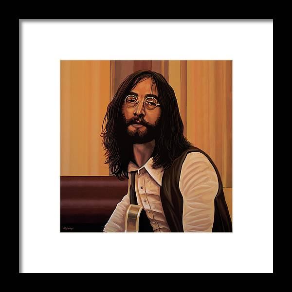 John Lennon Framed Print featuring the painting John Lennon Imagine by Paul Meijering