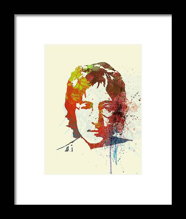Framed Print featuring the painting John Lennon by Naxart Studio