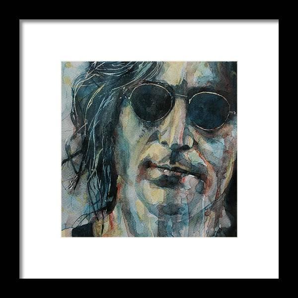 John Lennon Framed Print featuring the painting John Lennon by Paul Lovering