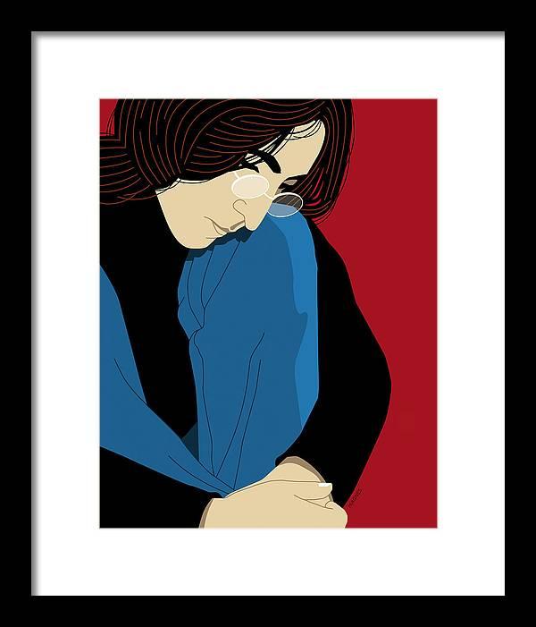 John Lennon Framed Print featuring the digital art John Lennon by Ron Magnes