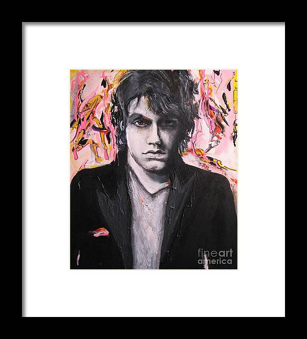 Celebrity Portraits Framed Print featuring the painting John Mayer by Eric Dee