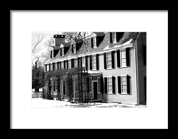 John Quincy Adams Framed Print featuring the photograph John Quincy Adams House Facade by Heather Weikel