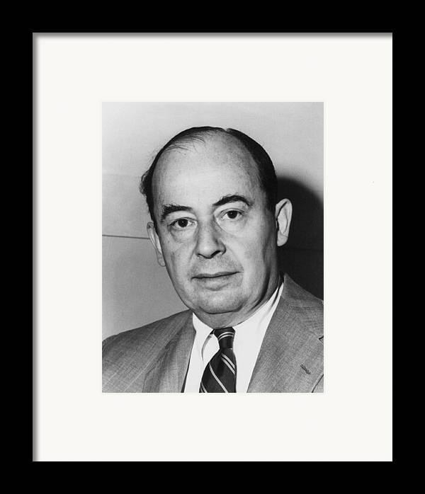 History Framed Print featuring the photograph John Von Neumann 1903-1957 by Everett