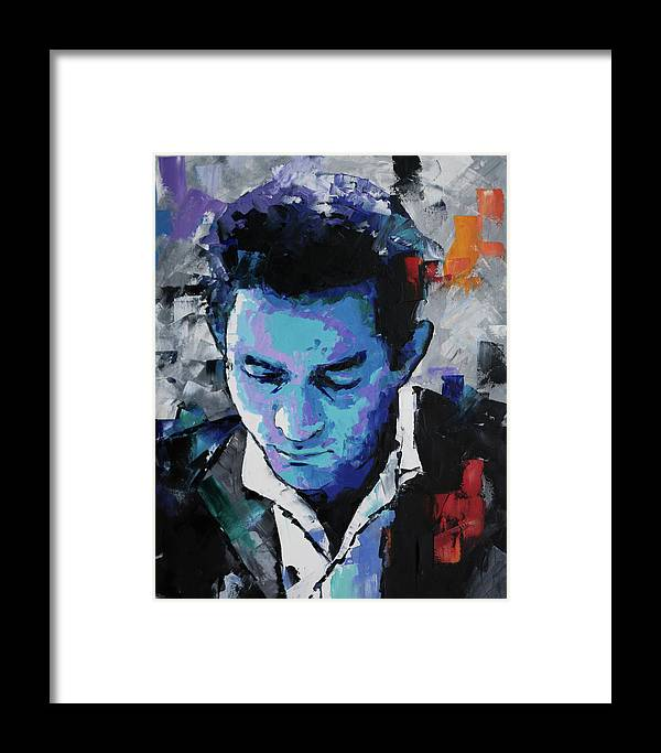 Johnny Cash Framed Print by Richard Day