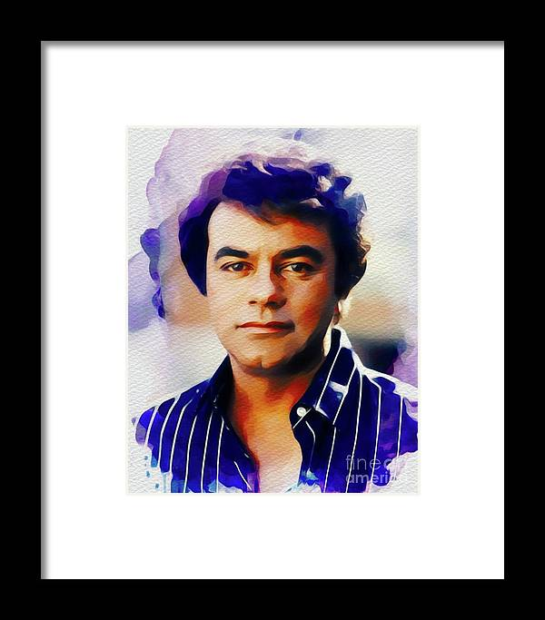 Johnny Framed Print featuring the painting Johnny Mathis, Music Legend by John Springfield