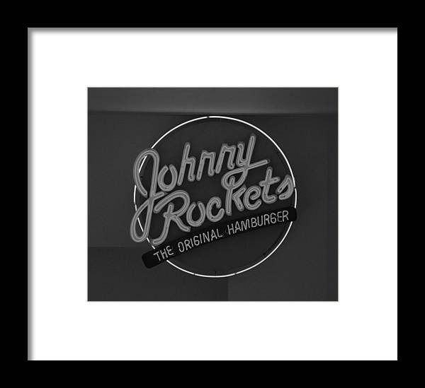 Macro Framed Print featuring the photograph Johnny Rockets by Rob Hans