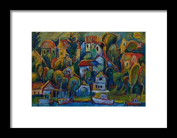 Oil Framed Print featuring the painting Joie De Vivre by Jeremy Holton