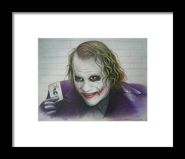 Batman Framed Print featuring the painting Joker by David Easterly