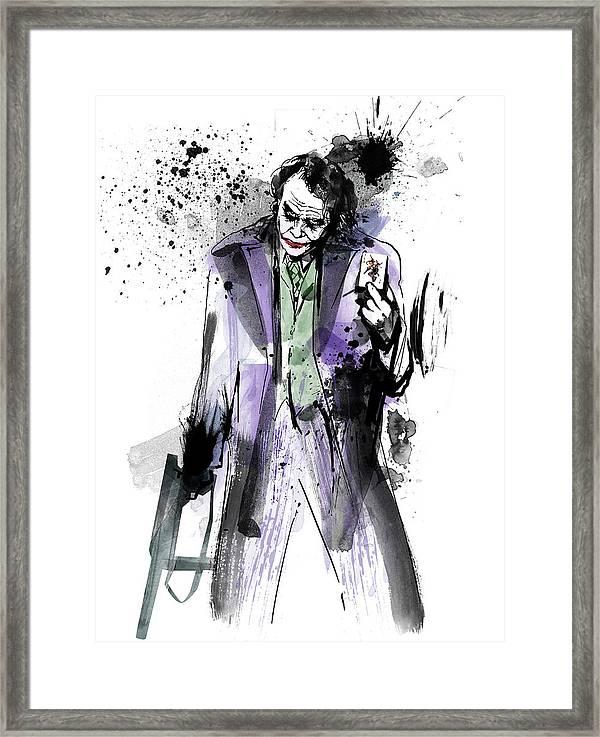 THE JOKER 18 x 24 in Print//Poster of Original Dark Knight Painting//Illustration