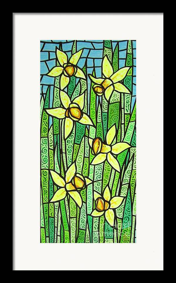 Jonquils Framed Print featuring the painting Jonquil Glory by Jim Harris