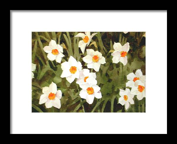 Spring Framed Print featuring the painting Jonquills by Faye Ziegler