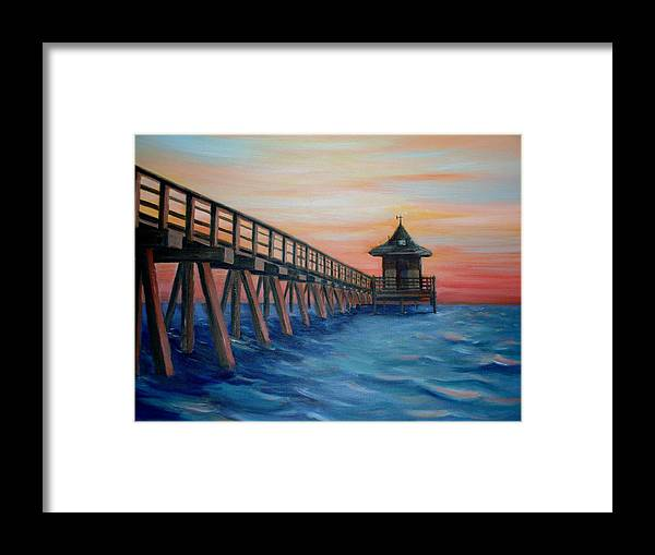 Landscape Framed Print featuring the painting Jon's Spot by Joe Lanni
