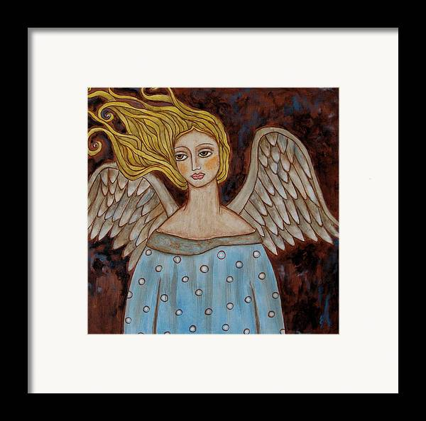 Folk Art Paintings Paintings Framed Print featuring the painting Jophiel by Rain Ririn