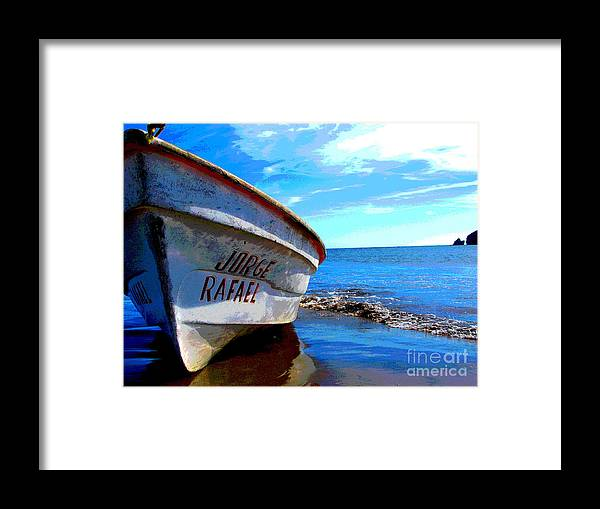 Michael Fitzpatrick Framed Print featuring the photograph Jorge Rafael By Michael Fitzpatrick by Mexicolors Art Photography
