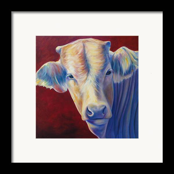 Bull Framed Print featuring the painting Jorge by Shannon Grissom