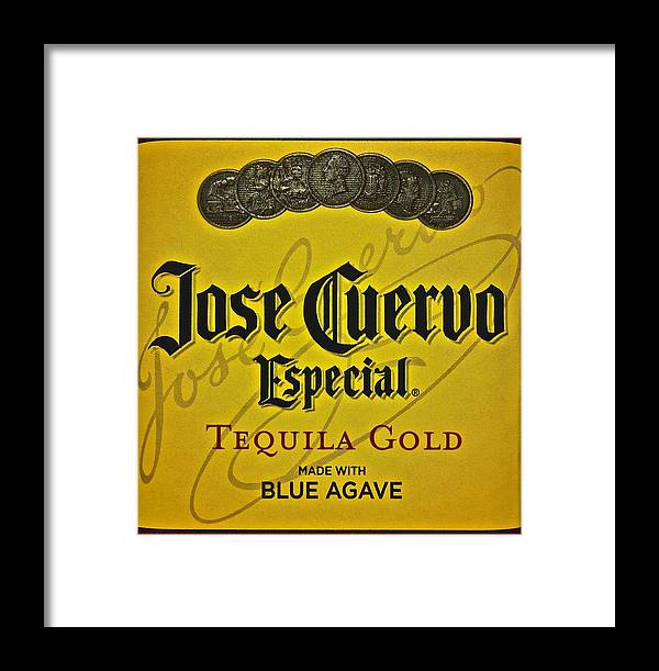 Jose Framed Print featuring the photograph Jose Cuervo by Frozen in Time Fine Art Photography