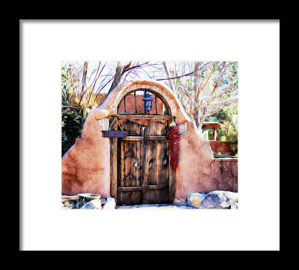 New Mexico Framed Print featuring the pastel Josephina's Gate by Barbara Chichester
