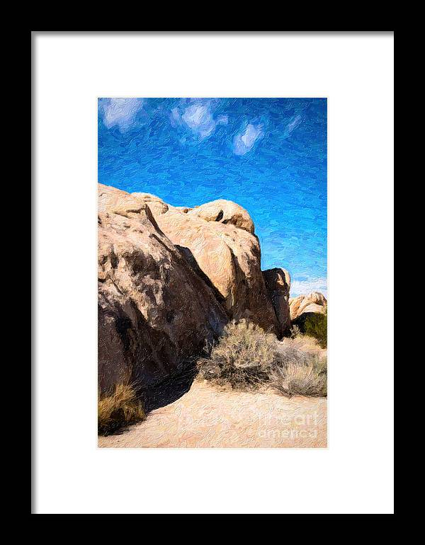 Desert Framed Print featuring the photograph Joshua Tree Ca 4 by Stefan H Unger