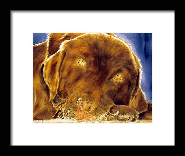Pet Framed Print featuring the painting Josie by Susan Gauthier