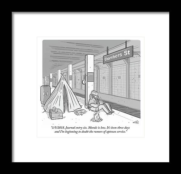Journal entry six morale is low framed print by ellis rosen journal entry six morale is low its ccuart Images
