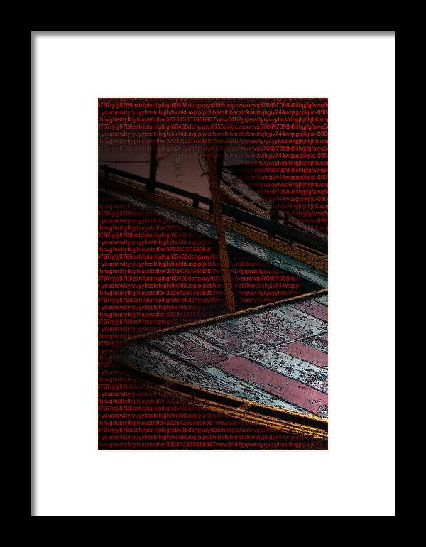 Varanasi Framed Print featuring the digital art Journey Of Life And Death by Bharat Gothwal