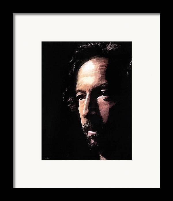 Eric Clapton Framed Print featuring the digital art Journeyman by Peter Chilelli