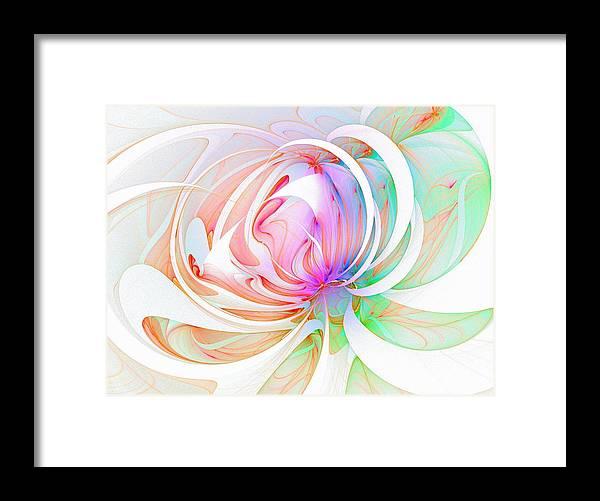 Digital Art Framed Print featuring the digital art Joy by Amanda Moore