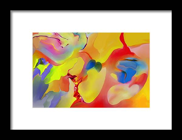 Abstact Framed Print featuring the digital art Joy And Imagination by Peter Shor