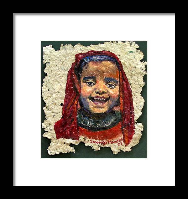 Joy Framed Print featuring the painting Joy by Art Nomad Sandra Hansen