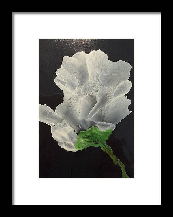 Mixed Media Yupo Blooming Framed Print featuring the mixed media Joy by Colleen Lyall