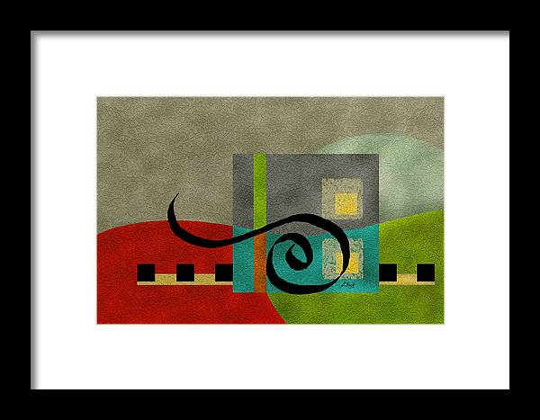 Contemporary Framed Print featuring the painting Joy by Gordon Beck