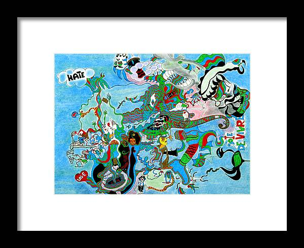 Abstract Framed Print featuring the print Joy Of Life by William Watson