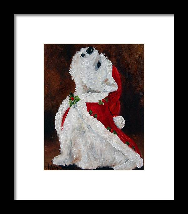 Art Framed Print featuring the painting Joy To The World by Mary Sparrow