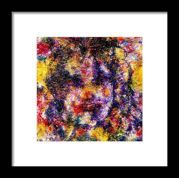 Expressionism Framed Print featuring the painting Joyful Clown by Natalie Holland