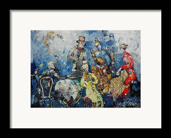 Figurative Framed Print featuring the painting Joyful Melody by Sari Haapaniemi