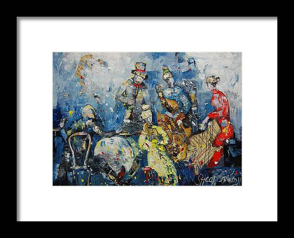 Figurative Framed Print featuring the painting Joyful Melody by Sari Haapaniemi