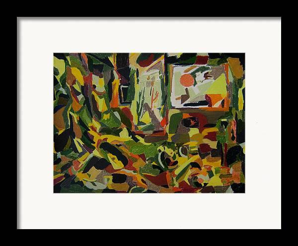 Fantasy Framed Print featuring the painting Joyful Renovation by Tadeush Zhakhovskyy
