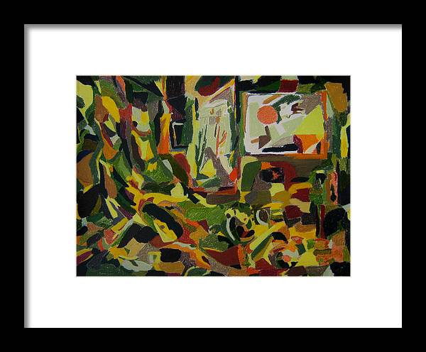 Fantasy Framed Print featuring the painting Joyful Renovation by Tadeush Zhakhovskyy
