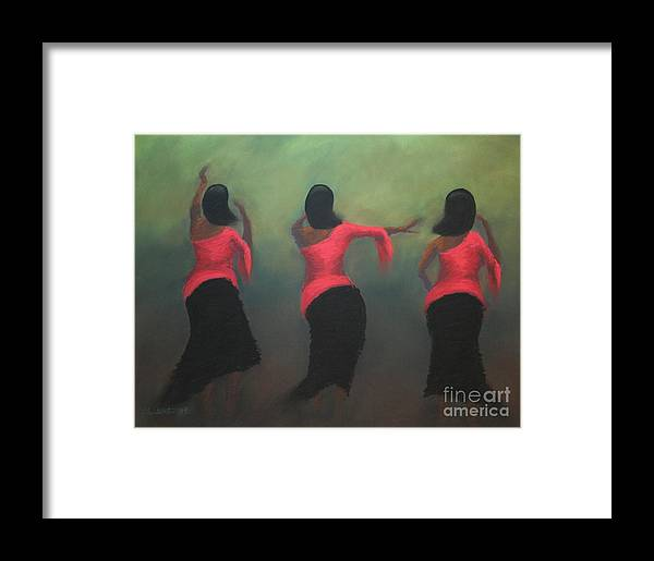 Dance Framed Print featuring the painting Joyous by Christine Fontenot